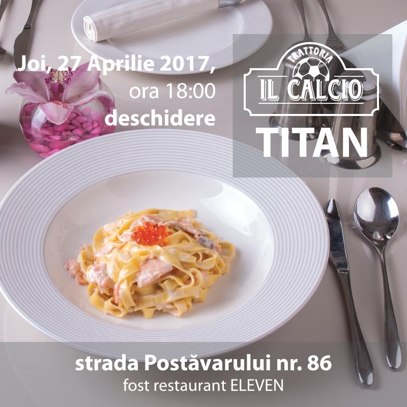 O nouă locație Trattoria Il Calcio, în Titan
