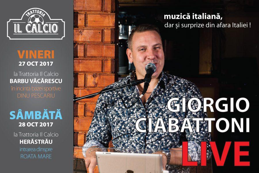 Show LIVE Giorgio Ciabattoni la Barbu Văcărescu și Herăstrău