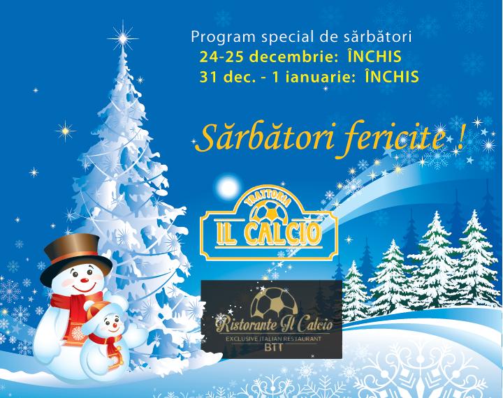 Program de sărbători Ristorante & Trattoria